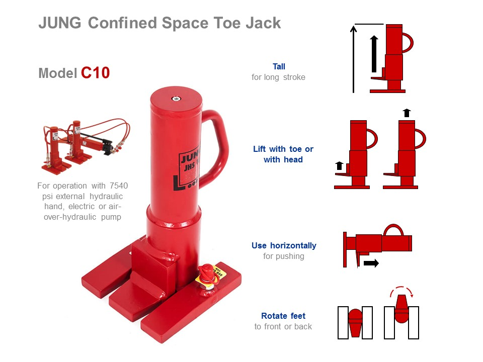 Toe Jack for Machine C10 - Functionality Picture