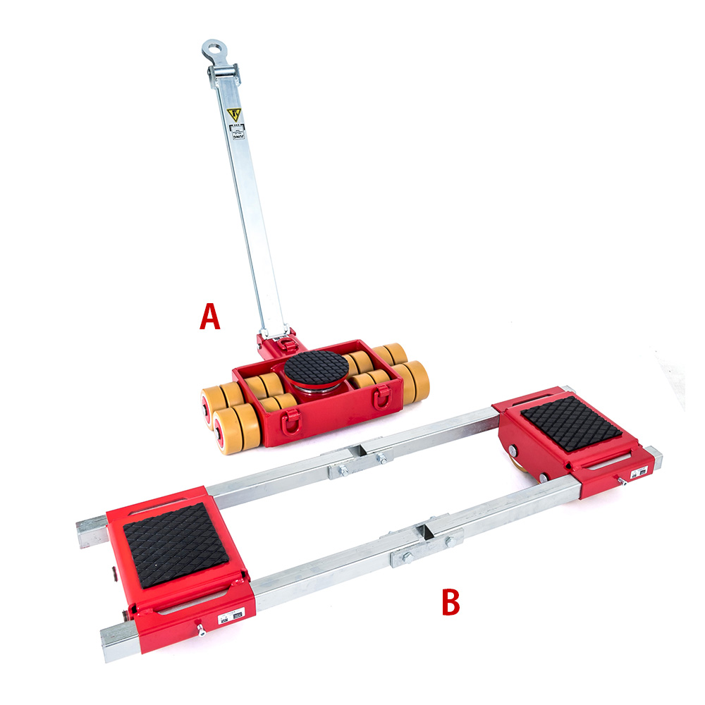 Use steerable rigging skate model A20 & Straight-line machine skate B20 for heavy equipment moving.