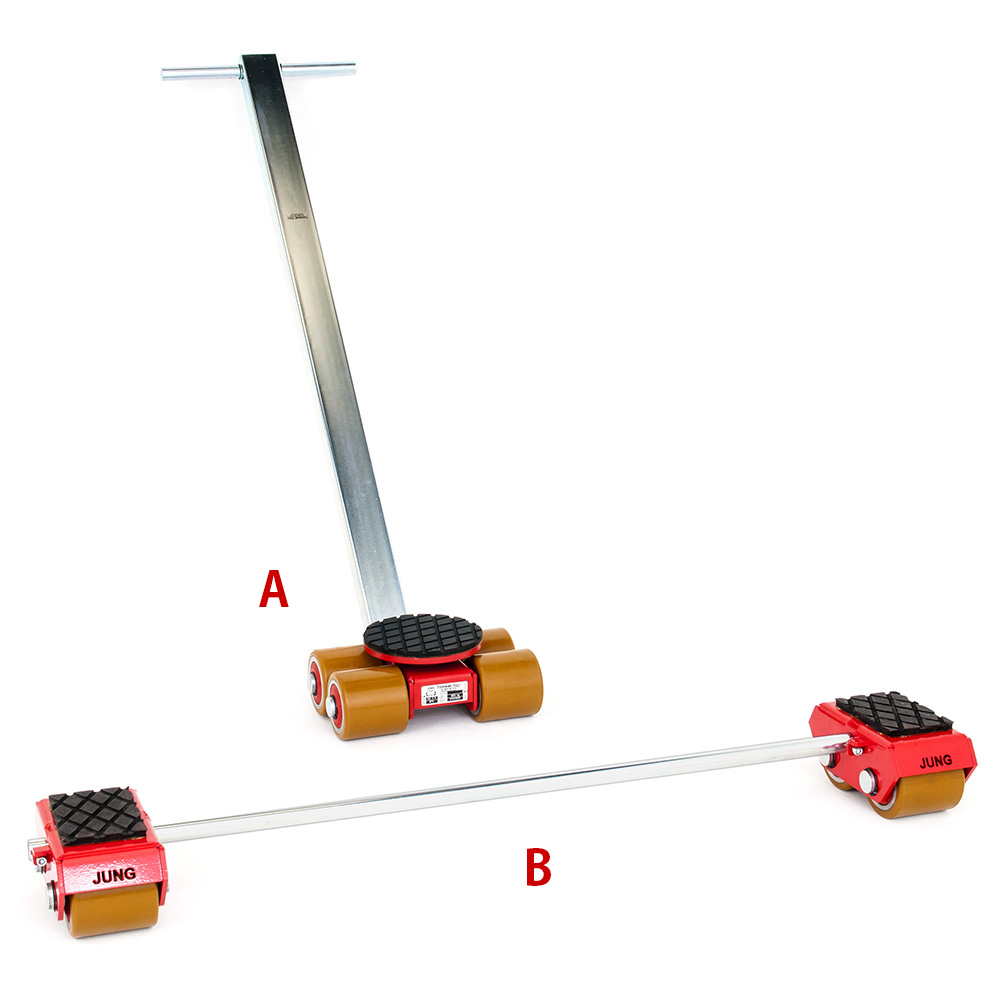 Use steerable rigging skate model A3 & Straight-line machine skate B3 for heavy equipment moving.