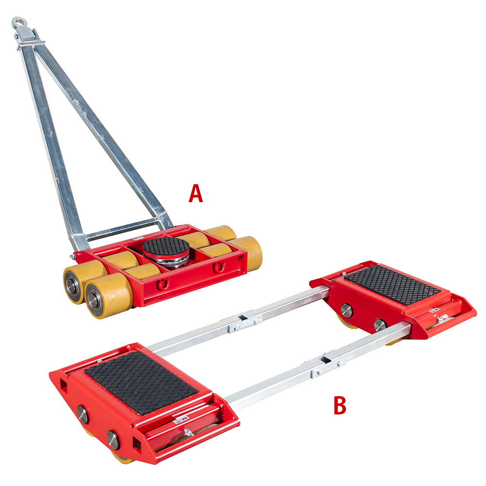 Use steerable rigging skate model A40 & Straight-line machine skate B40 for heavy equipment moving.