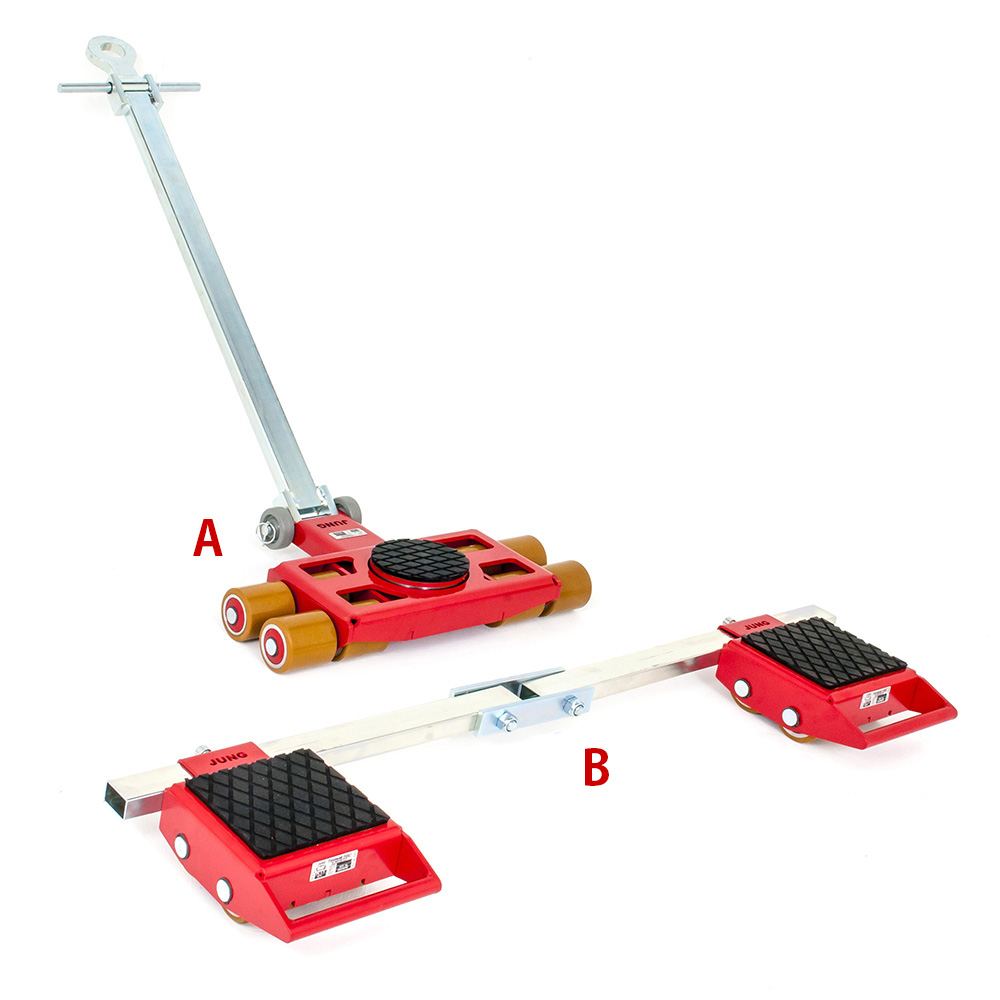 Use steerable rigging skate model A6 & Straight-line machine skate B6 for heavy equipment moving.