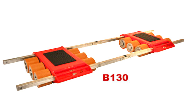 Use steerable rigging skate model  & Straight-line moving dolly B130 for heavy equipment moving.