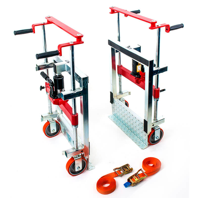 Use steerable rigging skate model 20G-plus & Straight-line moving dolly  for heavy equipment moving.